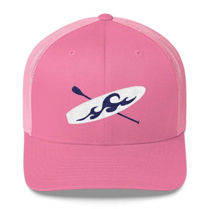 Paddleboard Trucker Hat in Pink