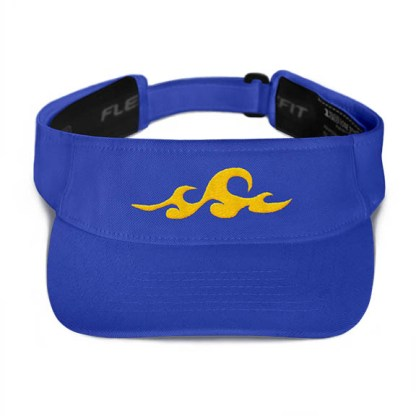 Ocean Waves Visor in Royal