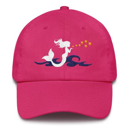 Mermaid Kisses Baseball Hat Hot Pink