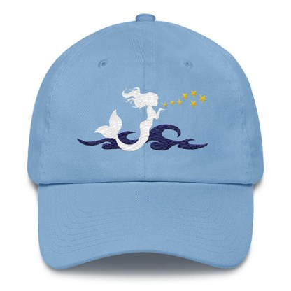 Mermaid Kisses Baseball Hat Carolina-Blue