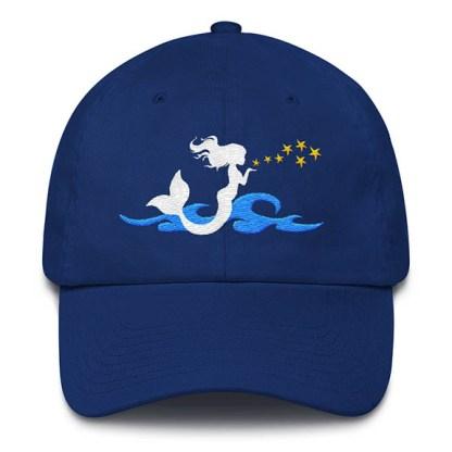 Mermaid Kisses Baseball Hat Royal Blue