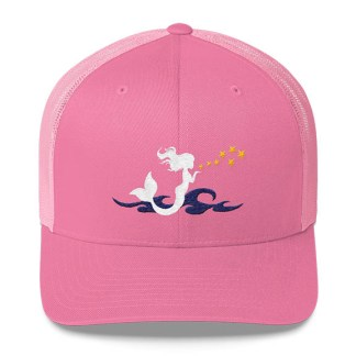 Mermaid Trucker Hat in Pink