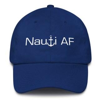 Royal Blue Nauti AF Baseball Hat