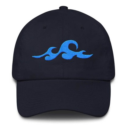 Waves Navy Baseball Hat