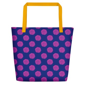 flower power beach tote