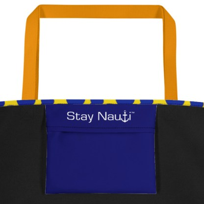 yellow and blue spots beach tote