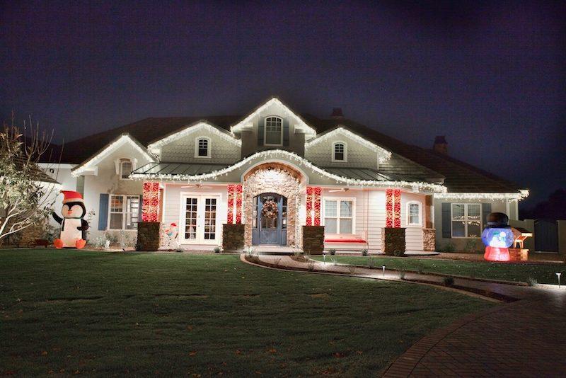 Custom exterior Christmas lighting