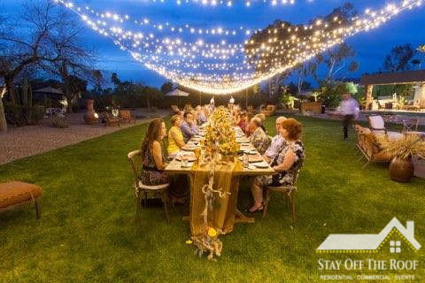 Phoenix AZ Wedding Reception Lights