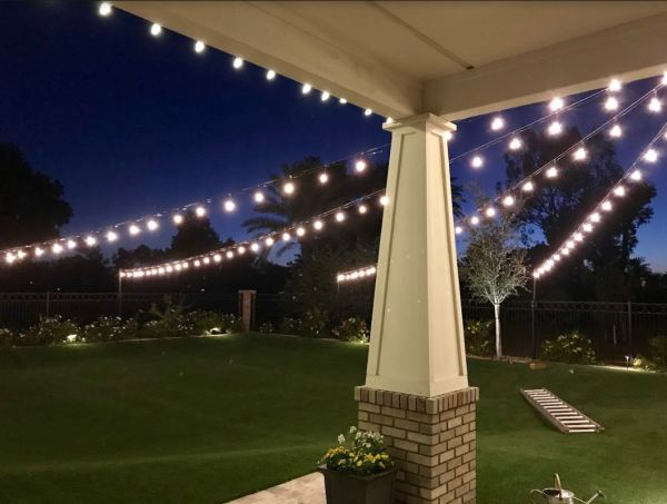 outdoor lighting ideas for patios - string lights