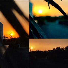 Sunset at holiday house Stayonboard (Lajares / Fuerteventura)