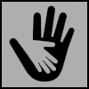 reaching out icon