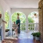 a family on a porch