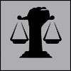 advocacy icon - fist & scales