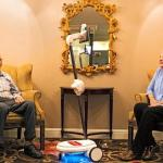 telepresence robot with senior couple