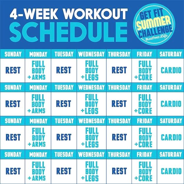 beginner workout schedule