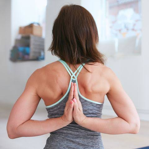 Lock and shoulder stretch for women