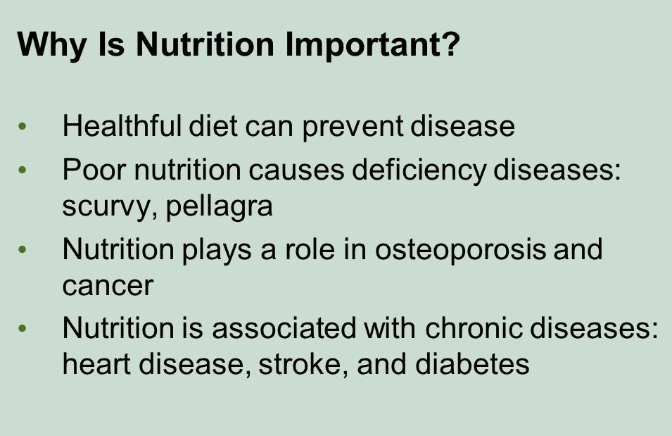 Why Is Nutrition Important To Overall Health?
