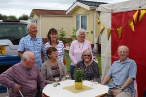 Park residents joined in the celebrations which included an outdoor tea party