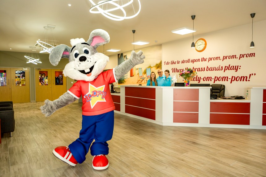 Park mascot Loopy joins the celebrations at the new centre, equipped to host West End quality performances