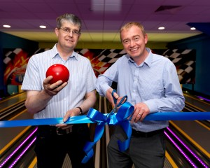 Silverdale's leisure club also includes a new bowling alley, opened in spring by local MP Tim Farron (above, right)