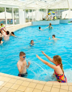 The park's indoor pool makes a splash with youngsters