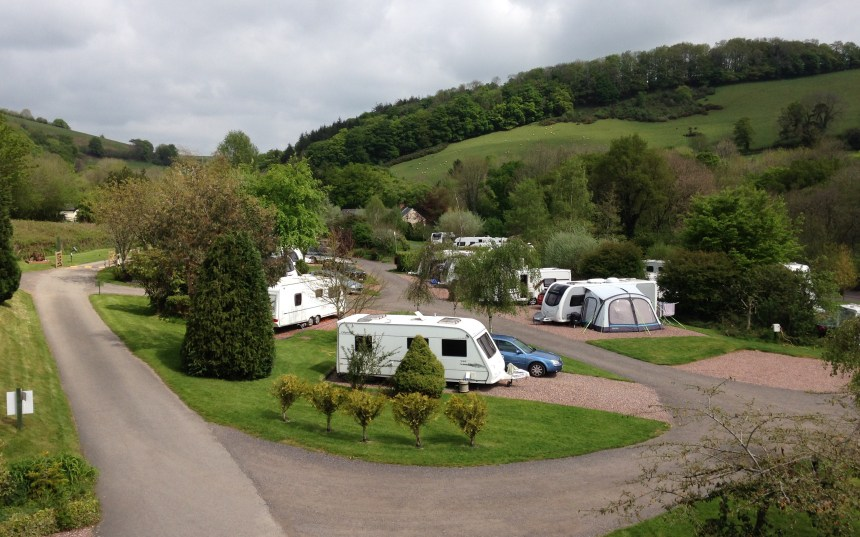 Waterrow Touring Park (above) is the perfect base for exploring Exmoor and the surrounding countryside