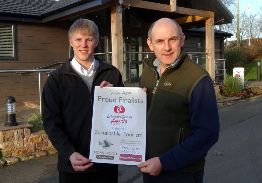 Marketing co-ordinator Neil Darby (left) and park owner Henry Wild say the award is a great start to 2017
