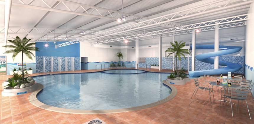 Guests at Birchington Vale Holiday Park near Margate, Kent, also have a new pool (above) in which to relax