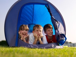 Youngsters camping at the park discover more about rural life