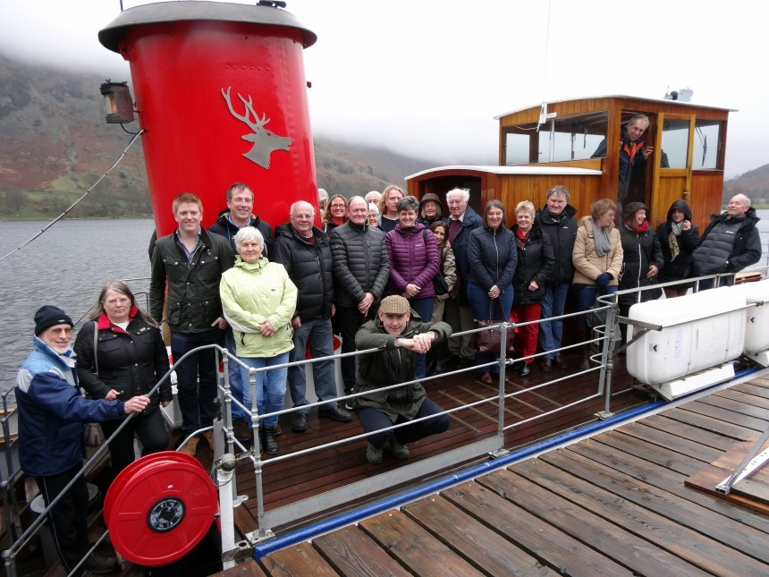 All aboard: Cumbria park owners set sail from Glenridding with Ullswater Steamers for a lake cruise