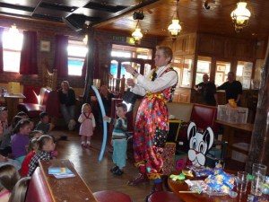 Children's entertainment is featured at the clubhouse
