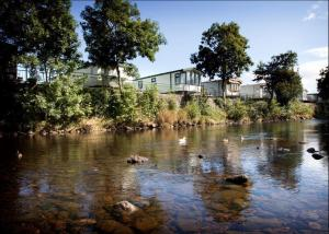 Many of the holiday homes enjoy delightful riverside views