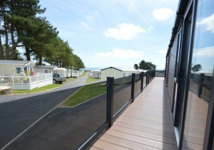 Lodges at the park come complete with exterior decking for al-fresco dining