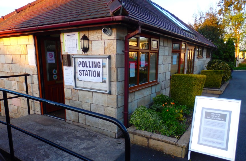 Poll perfect: safety fears have been put to rest now that the park's reception doubles as a polling station