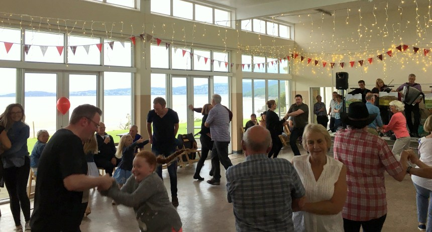 A reely good night: the ballroom at Silverdale enjoys sweeping picture-postcard views over Morecambe Bay