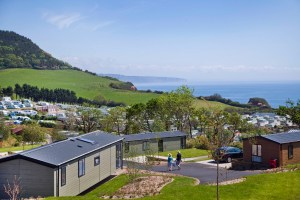 Holiday guests enjoy lovely sea and countryside views from their accommodation