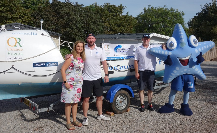 Adventure ahead: Beverley's Nicola Furneaux with Mike and Craig as their endurance training gets underway