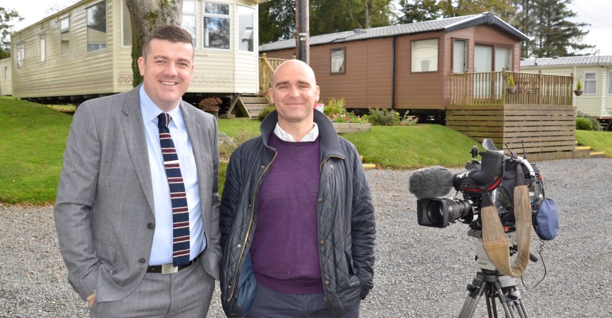 A tourism tax would hit multiple businesses in Wales, Thomas Scarrott (left) told BBC reporter Carl Roberts