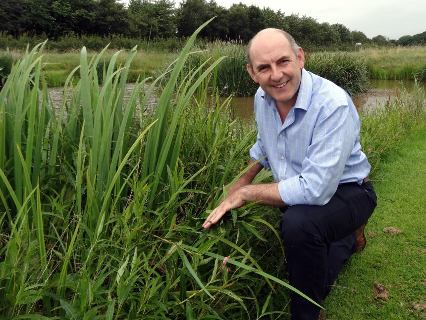 Henry Wild at Moss Wood's spring-fed lake which acts as a magnet for birds and a myriad of aquatic wildlife