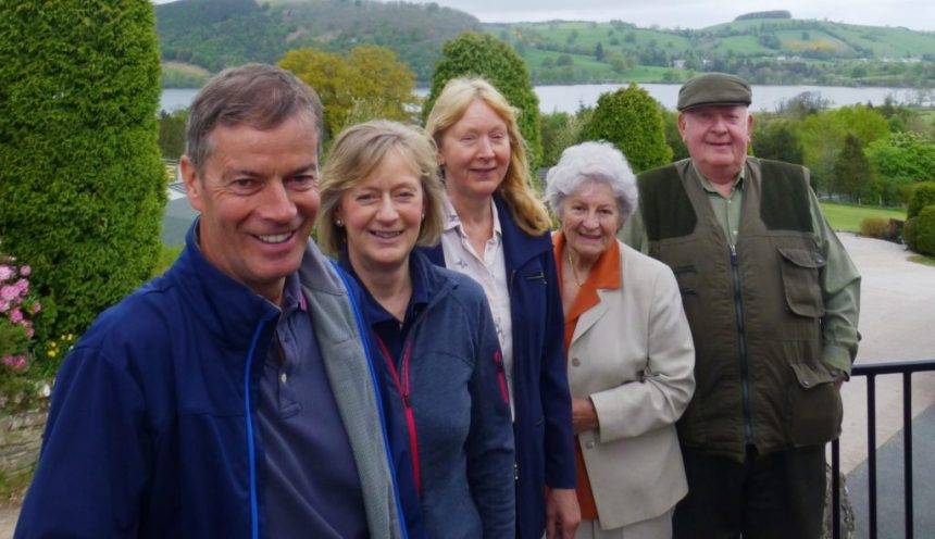 Members of the park owning family celebrate the opening of the eco-friendly refurbished clubhouse at Cumbria's Park Foot. Picture shows (from left) Malcolm Bell, Fiona Bell, Barbara Allen, and Evelyn and Jimmy Allen