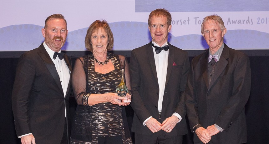 Silver success: Shamba's owners Anne Gray and her husband Martin (far right) are congratulated by judges