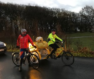 Pudsey crosses the border into Cumbria in the early hours