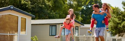 Families staying at Oakdene Forest Park (above) will now be able to choose from a range of luxury options