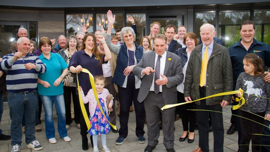 Flashback to spring this year when local constituency MP Neil Parish MP joined Oakdown's owners, staff and friends for the official tape cutting on the park's new reception, built by local contractors from the area