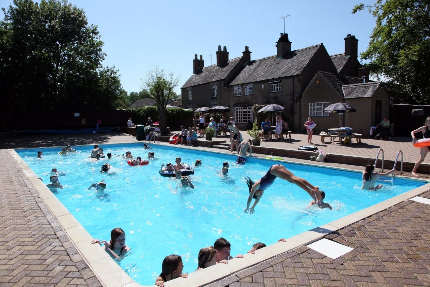 The park's heated outdoor pool is popular with guests, and is among a raft of family attractions on offer