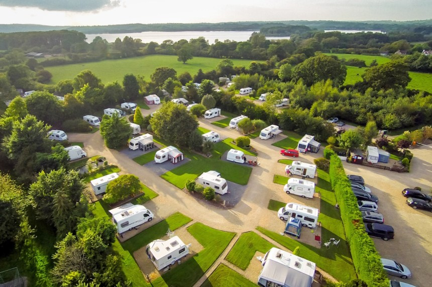 """High up in guests' opinions: visitors to Bath Chew Valley have voted it their favourite """"adults only"""" touring park"""