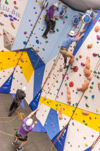 Getting a grip: the new climbing wall will challenge all ages