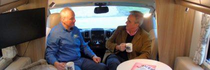 Mark Garnier MP (right) heard from park director Denis Lloyd Jones that motorhomes are driving up visitors