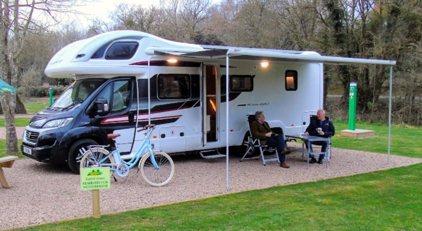 Luxurious motorhomes are proving popular with younger families especially, Mr Garnier heard on his visit