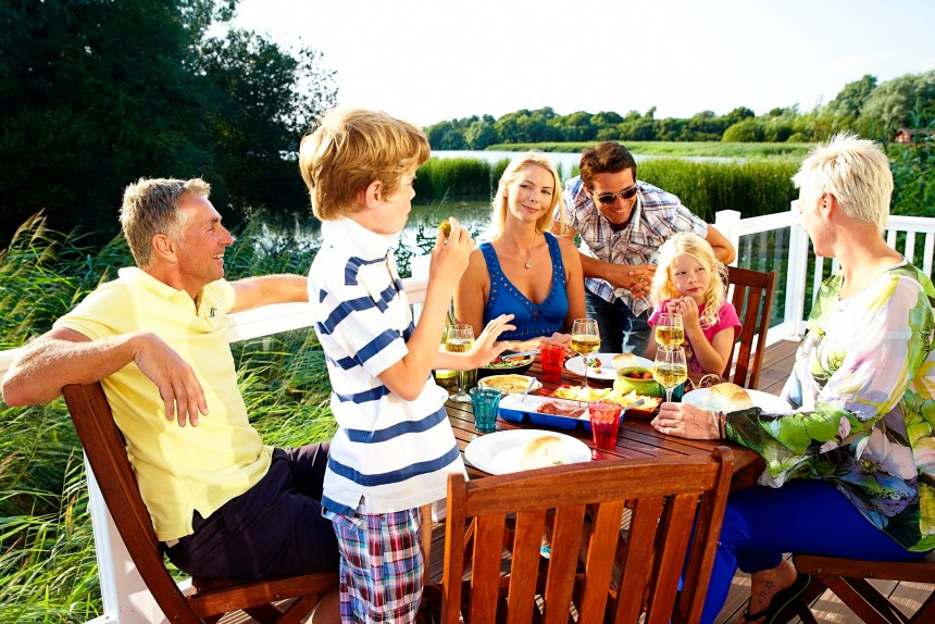 Lakeside holiday park near Chichester (above) also provides experiences which have impressed holiday guests